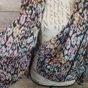 bebe Jackets & Coats - ⬇️35 BEBE Floral Moto Style Jacket Wrap Top Size M